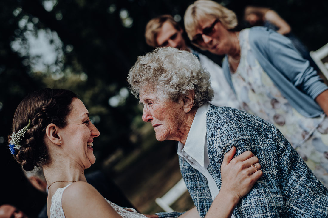 Wedding Photographer, Ceremony, Grandmother congratulation