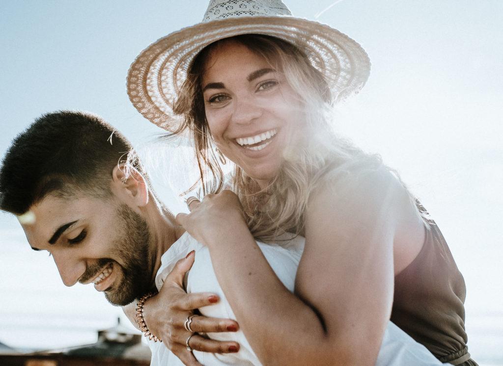 Beach Couple shooting in Spain