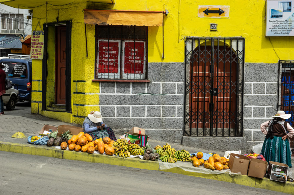 Selling Fruits in Bolivia