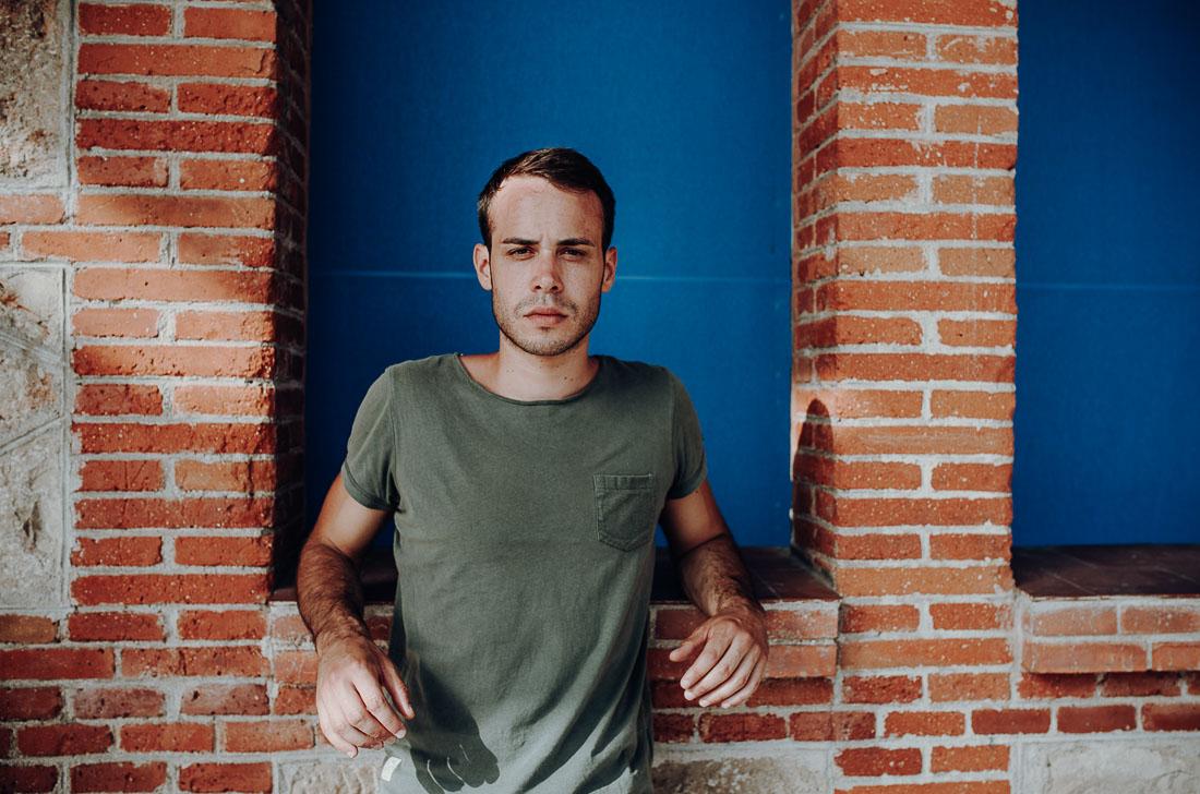 Portraits of man at Matadero Madrid