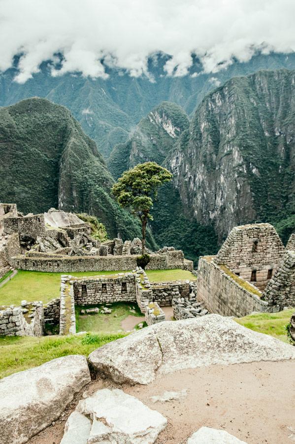 Above the clouds in Machu Picchu