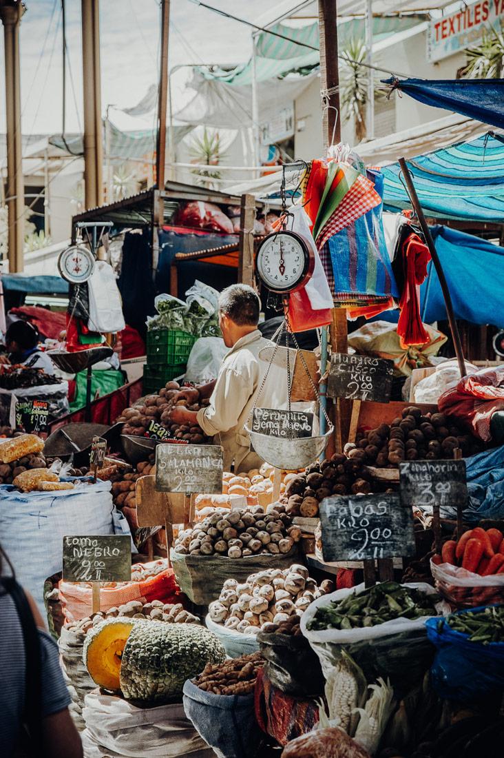 Visiting Markets in Peru