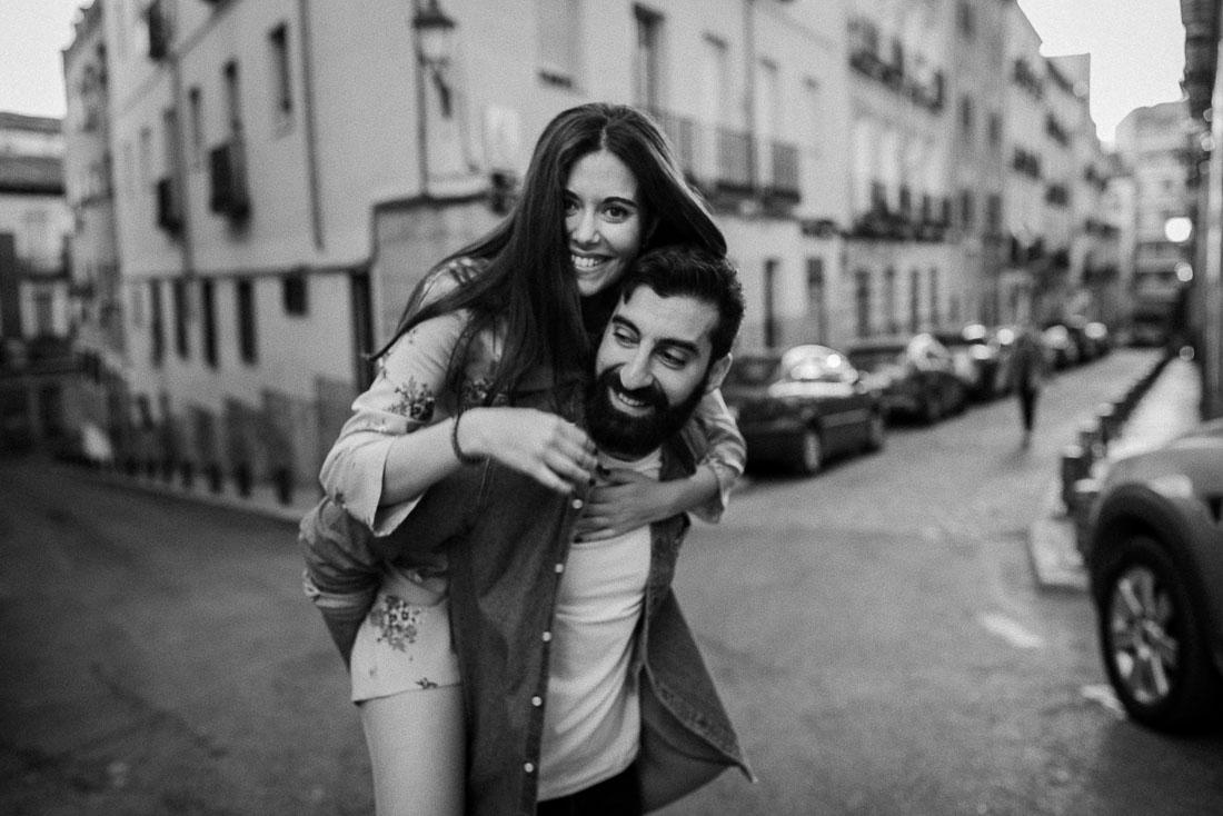 Happy couple in Lavapies
