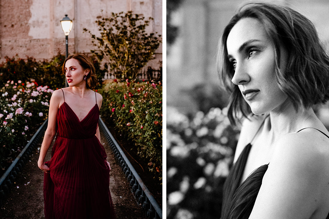 Fashion Photography with red dress