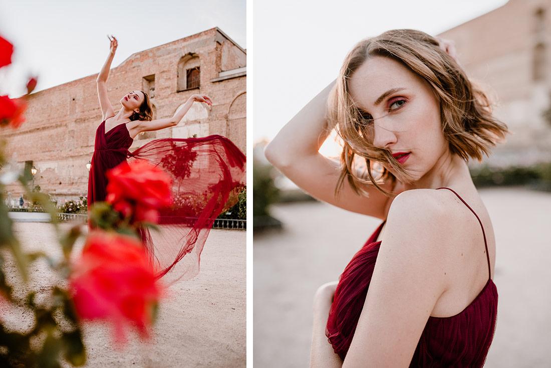 Female Portrait Red dress